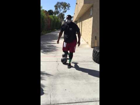 Gerald McCoy Med Ball Training at Fitness Quest 10