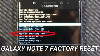 Galaxy Note 7 Recall - Data Wipe and Factory Reset