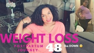 Postpartum Weightloss Journey: How I lost 48 lbs in 10 weeks!