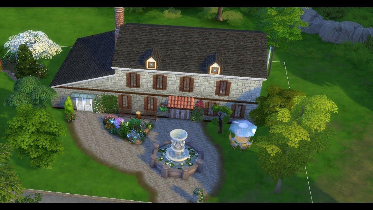 Sims 4 Maison De Campagne Sans Cc Youtube