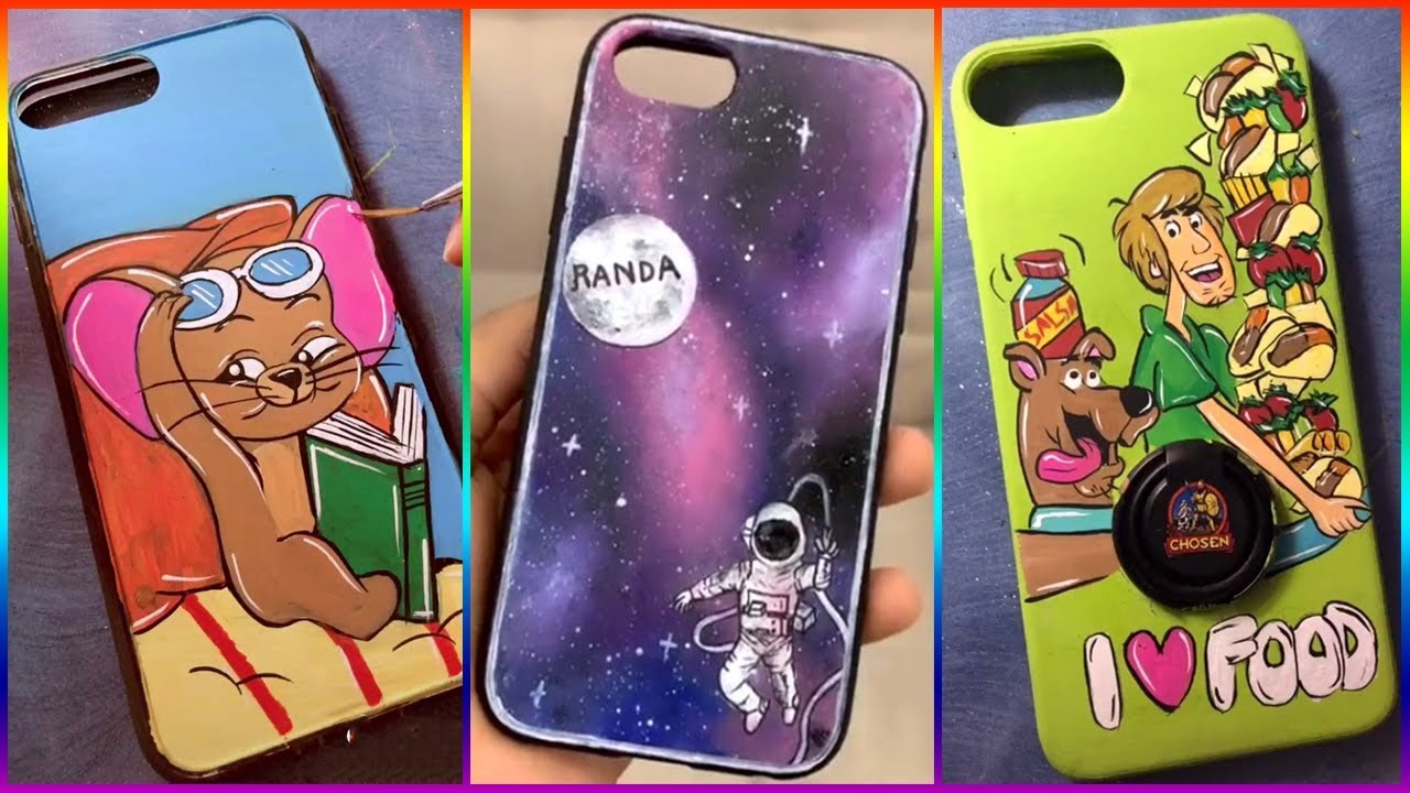 Tik Tok Painting On Phone Cases Compilation 2019 8 Youtube
