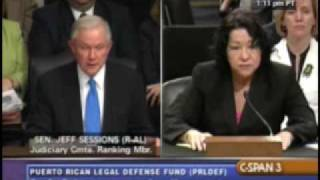 Sen. Jeff Sessions fails to get honesty from Sotomayor Free HD Video