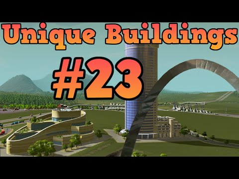 Cities Skylines Unlocking unique buildings Ep23 Business Park, Servicing Services Offices