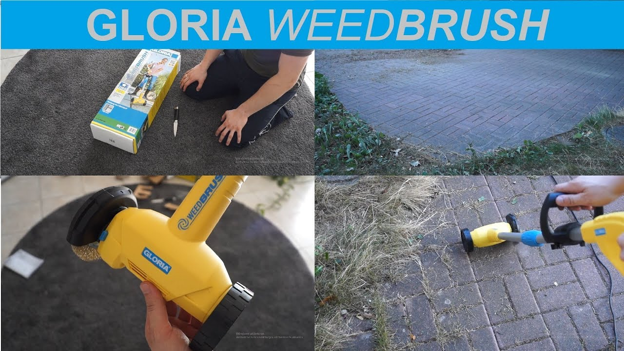 gloria weedbrush / fugenbürste unboxing und test - youtube