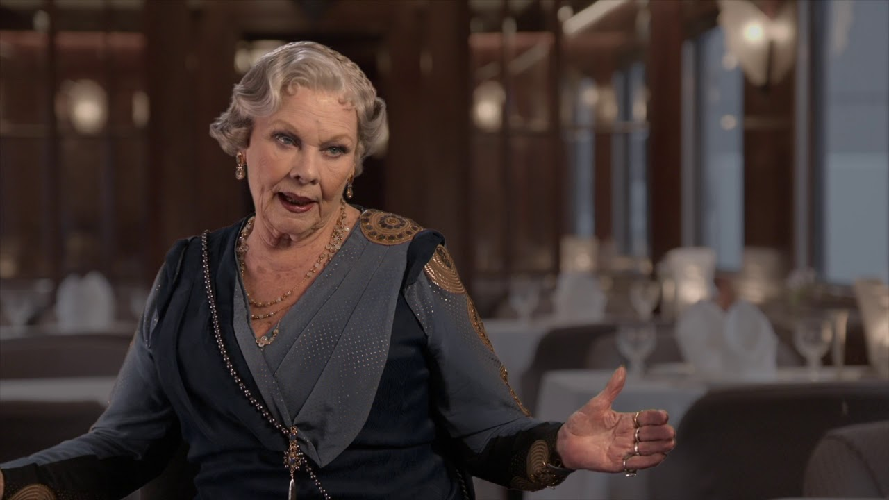 Murder On The Orient Express Judi Dench Behind The Scenes -4554