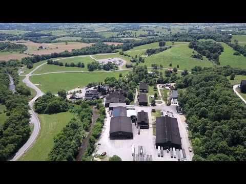 Mavic Pro Drone flight footage over Makers Mark Distillery Kentucky.