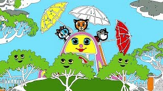 Раскраски - Считалочки (Дождик)   Три котенка - мультик для малышей