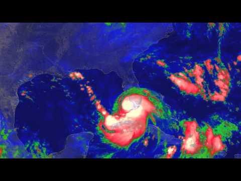 Hurricane Katrina (2005) Colorized IR