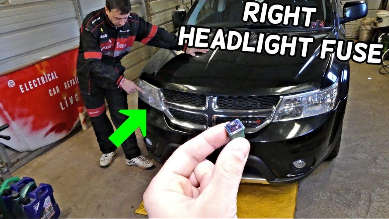 Dodge Journey Right Headlight Fuse Location  Headlight Not
