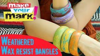How To: Weathered Wood Bracelets Diy
