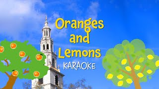 Oranges and Lemons (instrumental nursery rhyme - lyrics video for karaoke)