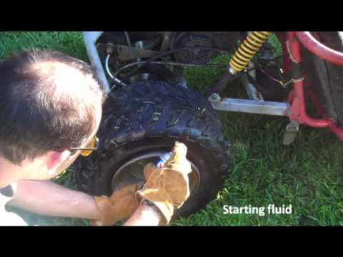 How To Seat, Inflate A Tire With Starter Fluid