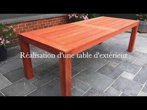 Table extérieur en bois - DIY - bois exotique