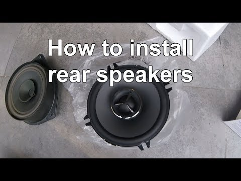How to install/upgrade (rear) speakers in your car! Easy DIY