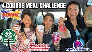 4 Course Meal Challenge TikTok | GEM Sisters