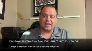Free NCAA College Football & MLB Sports Picks Friday 10/11/19
