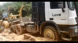 Download Truk Logging Indonesia Mercy Volvo and Scania - Timber Carrier Trucks In Indonesia