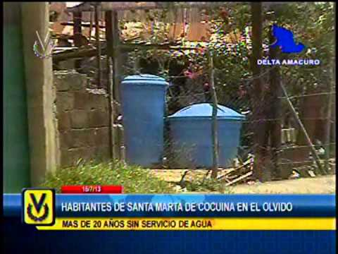 En Delta Amacuro denuncian deficiencias en el servicio de agua