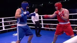 Два нокдауна за 20 секунд казахстанского супертяжа в бою за «золото» МЧМ-2018