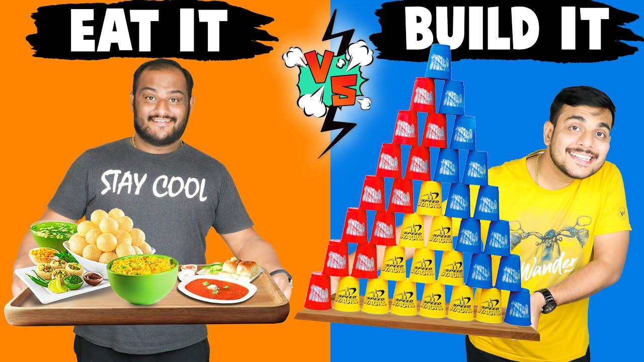 EAT IT VS BUILD IT FOOD CHALLENGE   Food Eating Challenge   Viwa Food World