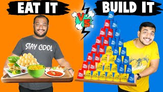 EAT IT VS BUILD IT FOOD CHALLENGE | Food Eating Challenge | Viwa Food World