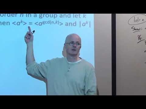 Abstract Algebra, Lec 9B, Powers of Cyclic Group Generators, Subgroup Lattice, Permutations