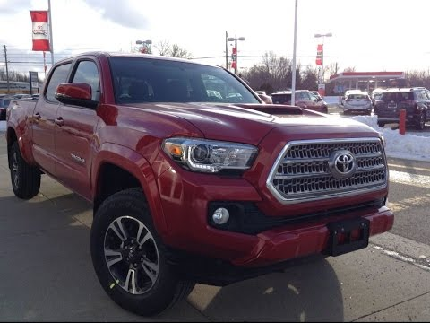 New 2017 Toyota Tacoma Dbl Cab Trd Sport Review Barcelona Red 1000 Islands