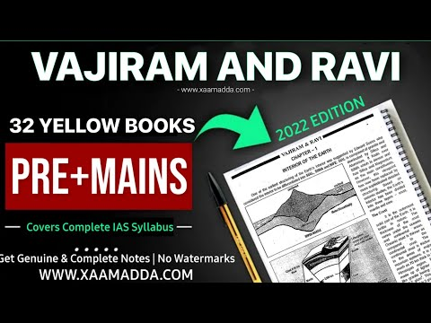 VAJIRAM IAS Full Set study Material for IAS Exam 2019 (31 Yellow Booklets)  PDF| Kalu Sarai New Delhi