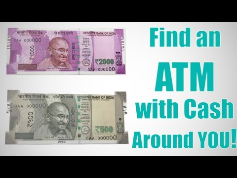 Find an ATM with Cash Near You Using your Mobile ! [In INDIA]