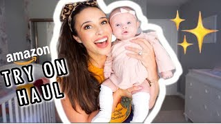 HUGE AMAZON BABY CLOTHES TRY ON HAUL (0-3 MONTHS!!)