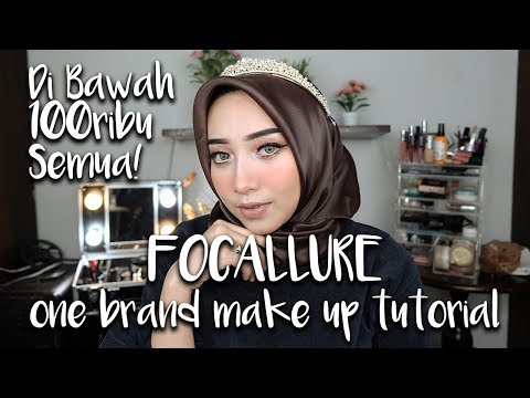 FOCALLURE ONE BRAND MAKEUP TUTORIAL / FIRST IMPRESSION! (BERUBAH JADI PRINCESS!!)