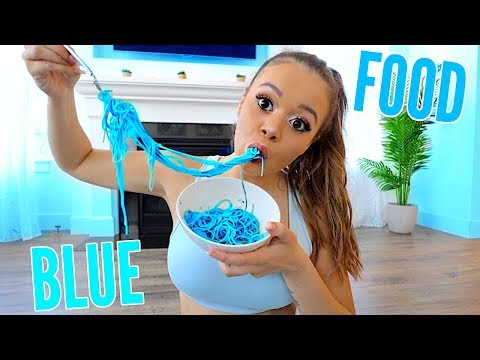 I Only Ate BLUE Food For 24 HOURS Challenge! | Krazyrayray