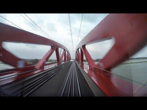 4K Cab Ride NL Zwolle – Harderwijk - Amersfoort / Stormy weather! / SPR 5628 / 18-01-2018