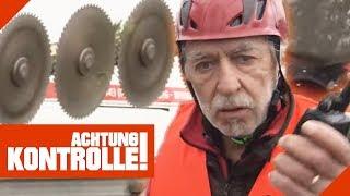 Bahnstrecke mit 6m Helikopter-Säge freimachen: Geht alles gut? | Achtung Kontrolle | Kabel Eins