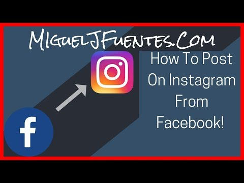 How to get instagram posts to appear on facebook