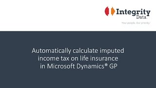 Automatically calculate imputed income tax on life insurance in Microsoft Dynamics GP