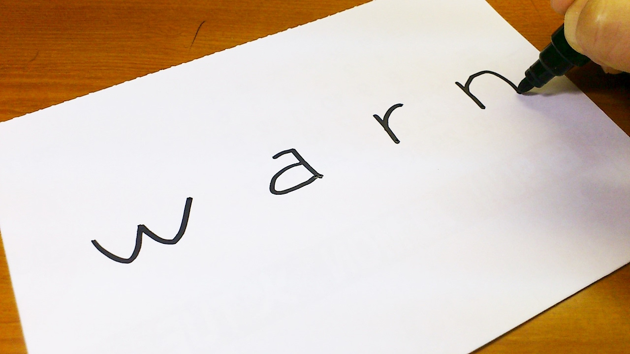 how to turn words warn into a cartoon let u0027s learn drawing art on
