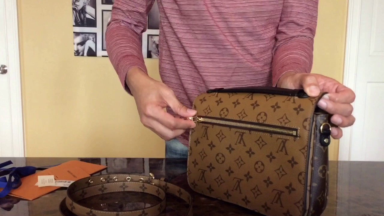 6a709fa34b2e Louis Vuitton Pochette Metis Monogram Reverse - YouTube