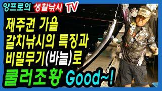 제주권 가을 갈치낚시의 특징-비밀무기(바늘)로 쿨러조황…