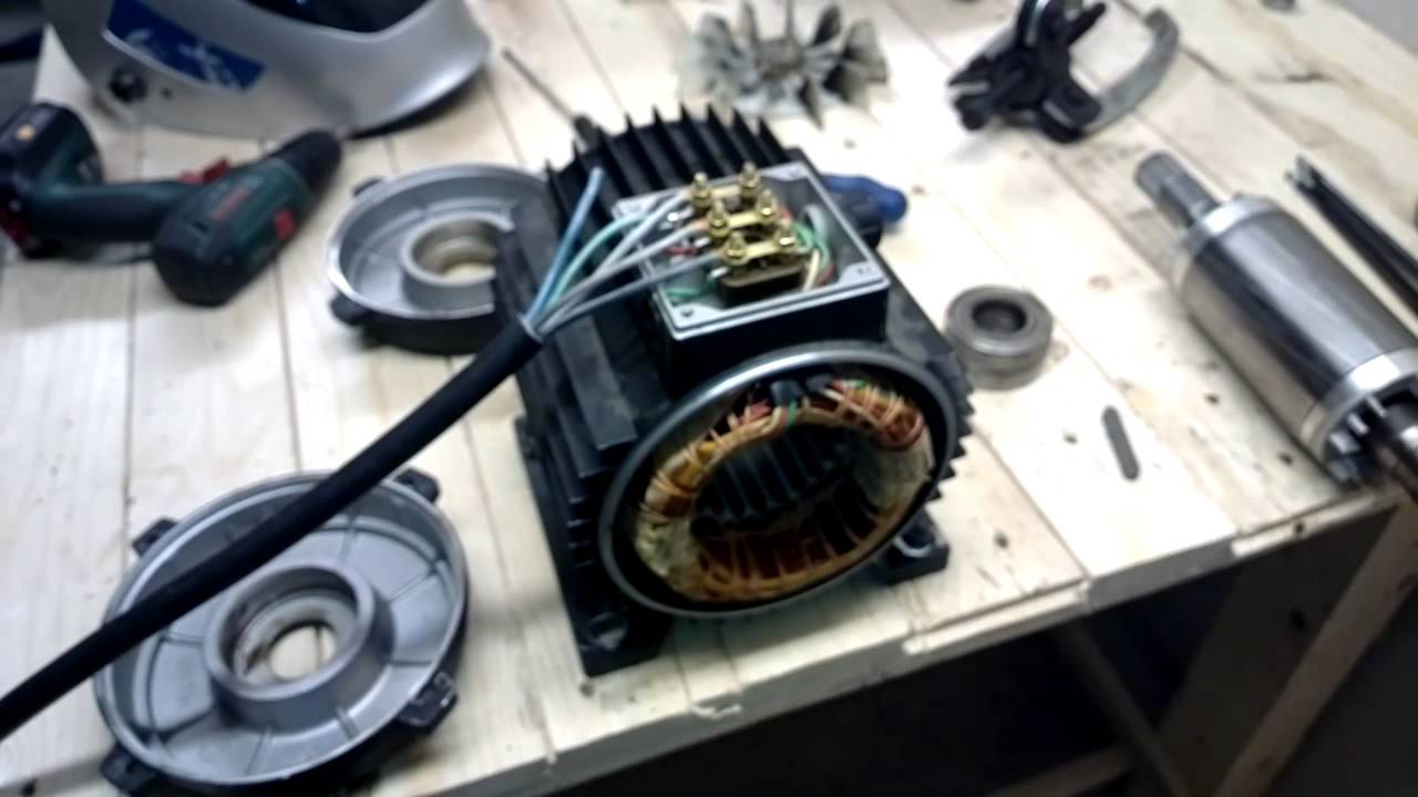 Electric Motor Disassembly To Change Bearings Youtube