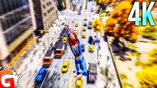 [4K] Spider-Man PRO Web Swinging (Free Roam Gameplay PS4 Pro)