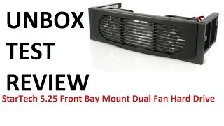 StarTech  5.25 front bay dual fan is it worth getting? (REVIEW)