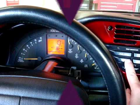 Corvette 90 96 Change Oil Light Reset Youtube