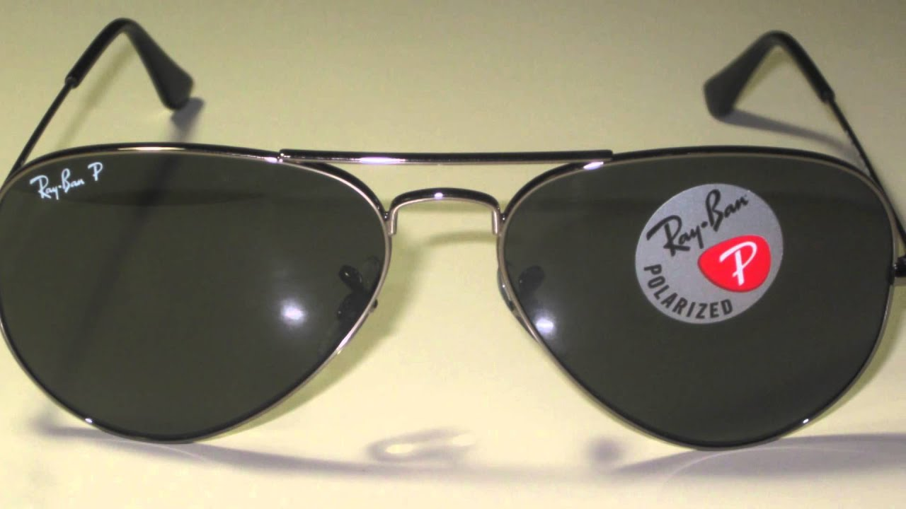70f971630d206 Ray Ban Aviator RB3025 Polarized Sunglasses - YouTube