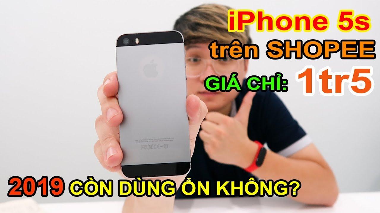 Mở hộp Apple iPhone 5s giá 1tr5 đặt trên LAZADA, SHOPEE. Hướng dẫn TEST iPhone cũ | MUA HÀNG ONLINE