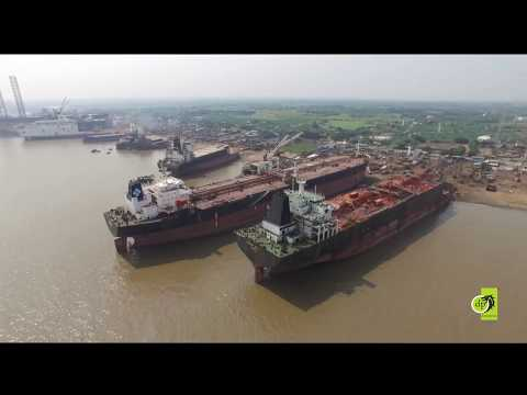 Recent Aerial Video shoot for Alang Ship Breaking Yard located in Bhavnagar, Gujarat