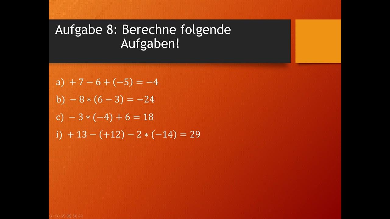 Mathe Übungsaufgaben | rationale Zahlen | Teil 2