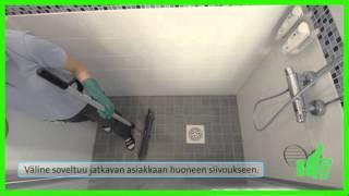 Suihkun lattian pyyhintä - kuivainmoppi