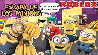 Los Minions y las Bananas en Roblox | ESCAPA DE LOS MINIONS | Roblox Obby