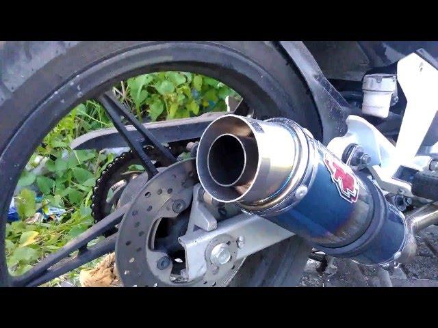 Knalpot R9 New Mugello with DB Killer on Yamaha New Jupiter MX video 2